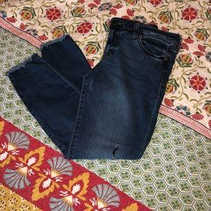 Kut from the Kloth Frayed Hem Skinny Jeans Size 8